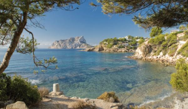 Playas bonitas en Alicante provincia - Cala Pinets (Benissa)