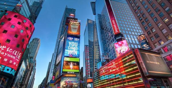 Sitios para pedir matrimonio en Nueva York - Times Square, un sitio muy turístico y románico