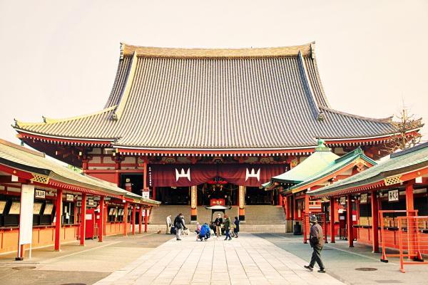 Templos budistas en Japón - Templo Senso-ji de Tokio, otro de los principales templos budistas japoneses