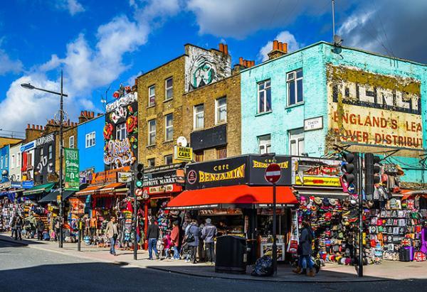 Dónde comer bien y barato en Londres - El mercado de Camden Town de Londres