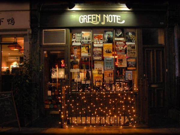 Cena con música en directo en Londres - Green Note, unos de los mejores pubs con música Londres