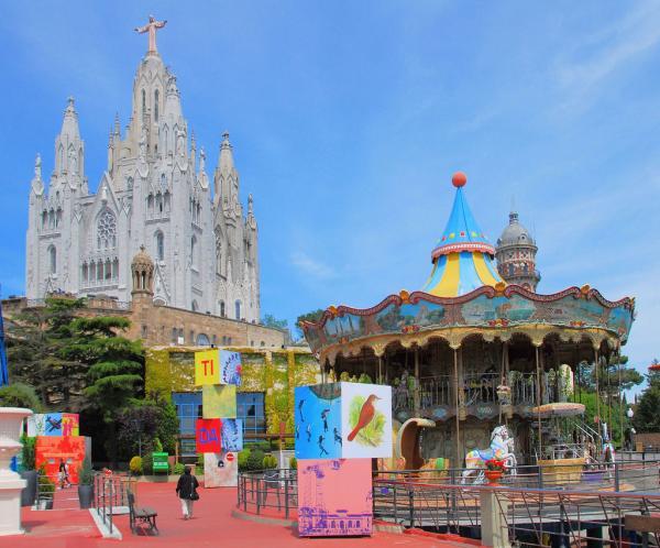 Qué ver en Barcelona con niños - Tibidabo: el parque de atracciones de Barcelona