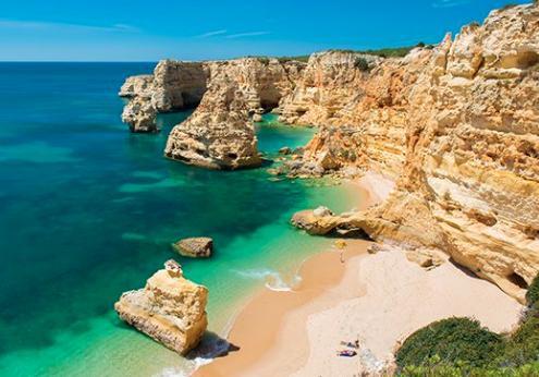 Playas paradisíacas de Portugal - La playa Marinha de Algarve (Portugal)