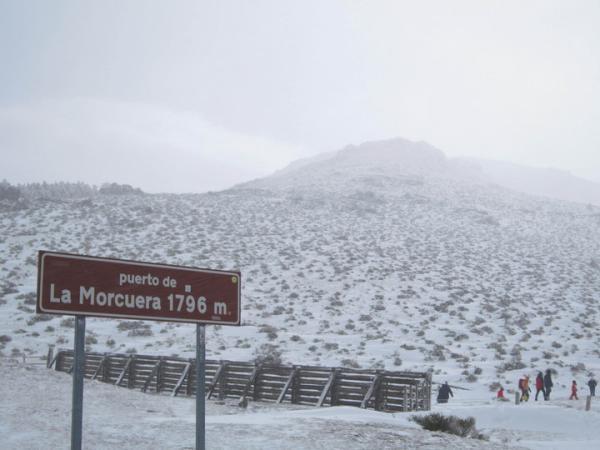 Dónde ver nieve en Madrid - Morcuera